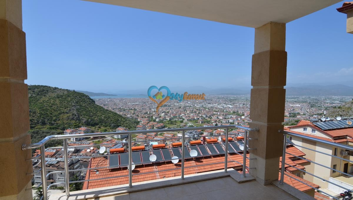 Sea view apartment for sale in Fethiye Tasyaka