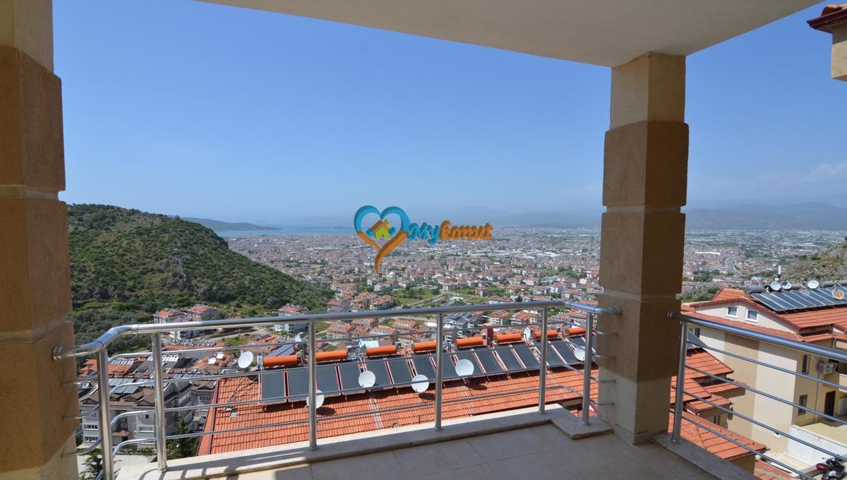 Sea view apartment for sale in Fethiye Tasyaka